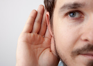 Man with hyperacusis at Hearing & Tinnitus Management, LLC